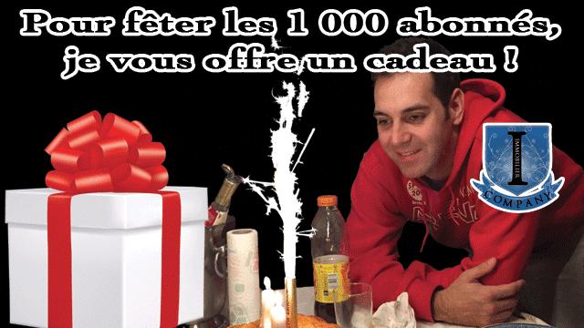 1000 abonnés, Merci !!!!!